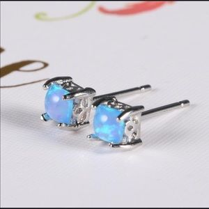 Jewelry - Sterling Silver Blue Fire Opal Suds NWT STAMPED